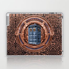 Aztec Tardis Doctor Who Full Color Pencils Sketch Laptop & iPad Skin