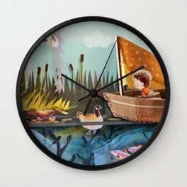 Pond Adventure Wall Clock