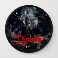 dracula Wall Clocks featuring Dracula by nurfiestore2u