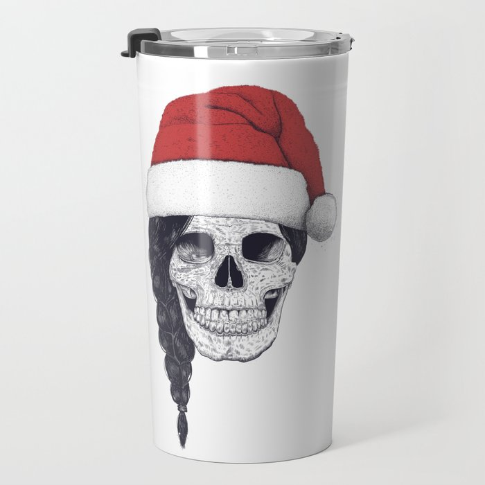 Christmas skull Travel Mug