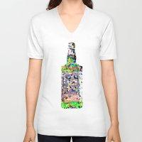 jack daniels V-neck T-shirts featuring Jack by Z DelFavero