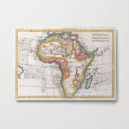 Vintage Map of Africa (1780)  Metal Print