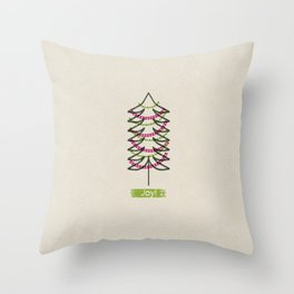 Joy Tree Throw Pillow