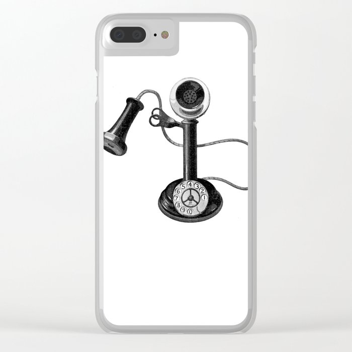 Old telephone Clear iPhone Case