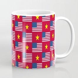 Mix of flag: usa and vietnam Coffee Mug