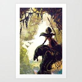 Amazon Queen Art Print