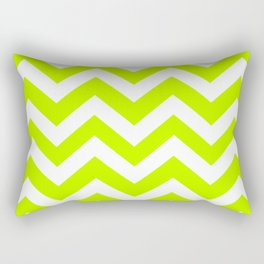 Bitter lime - green color - Zigzag Chevron Pattern Rectangular Pillow