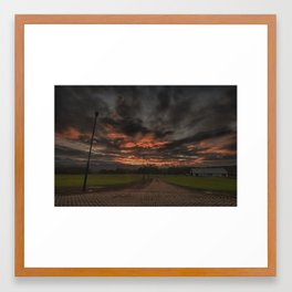 Bring the Fiery Rain Framed Art Print