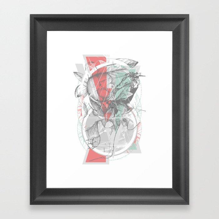 flour·ish Framed Art Print