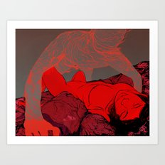 The Meat Market Art Print