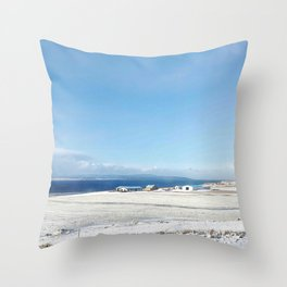 Blue roof Throw Pillow