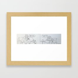 What is the effect of wine? Framed Art Print