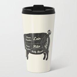 PORK BUTCHER DIAGRAM (pig) Travel Mug