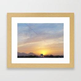 Running away from the Sun Framed Art Print