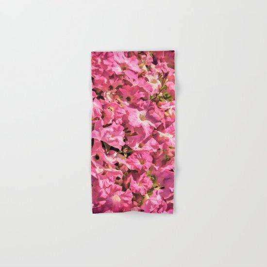 Vintage Pretty Pink Petunias Hand & Bath Towel