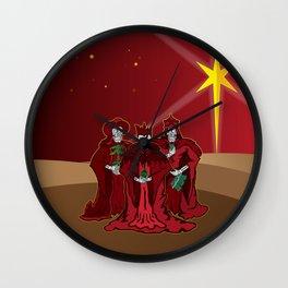 Three Wise Skulls Wall Clock