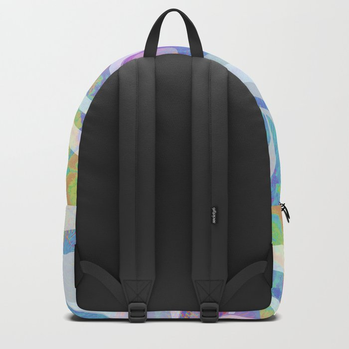 Abstract Colors Waves Design Backpack