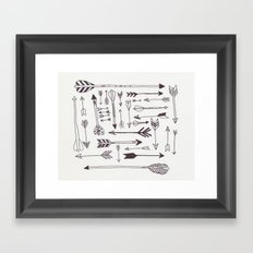 Arrows - B + W Framed Art Print