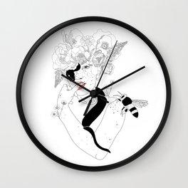 Spring Queen. Wall Clock
