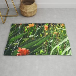 Exotic Garden With Glorious Majestic Flowers Rug