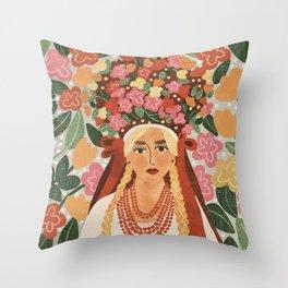 Polish Bride Throw Pillow