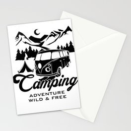 Camping adventure Stationery Cards