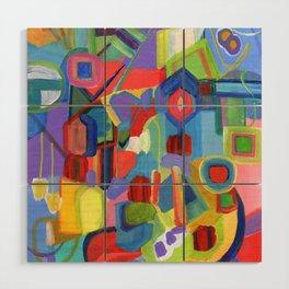 Diamonds, a colorful abstract Wood Wall Art