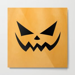 Scary Jack-O-Lantern Metal Print