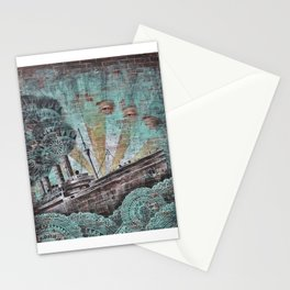 the boat wall Stationery Cards