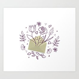 Blooming envelope Art Print