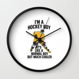 Ice Hockey Boy Hockey Son Gift Ice Hockey Wall Clock