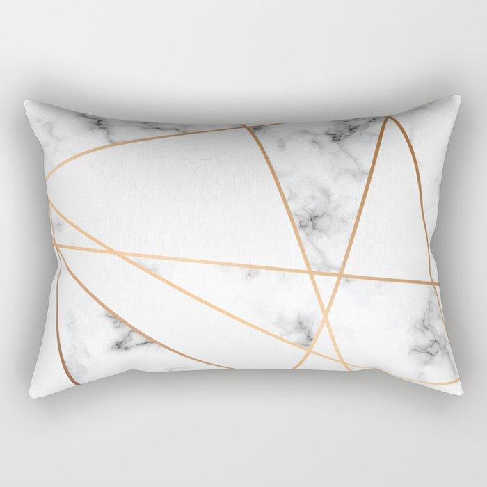 Marble Geometry 054 Rechteckiges Kissen