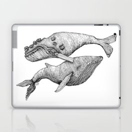 A Couple Of Whales  by Michelle Scott of dotsofpaint studios Laptop & iPad Skin