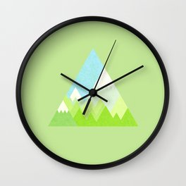 national park geometric pattern Wall Clock