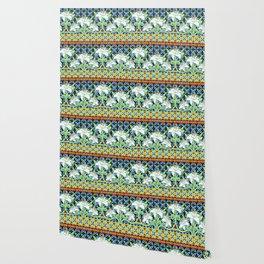Elizabethan Folkloric Lily Wallpaper