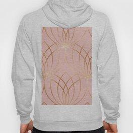 Rose gold millennial pink blooms Hoody
