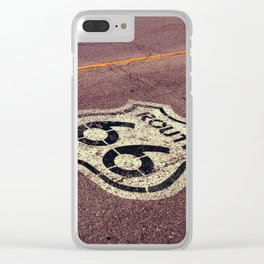 The mythical Route 66 sign in Texas, USA. Clear iPhone Case