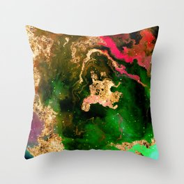 100 Starry Nebulas in Space 001 (Portrait) Throw Pillow