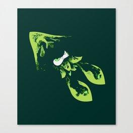Green Kraken Canvas Print