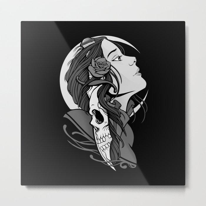 Moon Maiden Metal Print