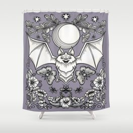 A Bat's Favorite Things Shower Curtain