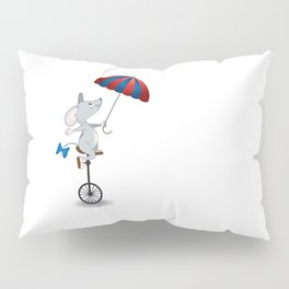Mouse on unicycle Pillow Sham