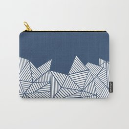 Abstract Mountain Navy Carry-All Pouch