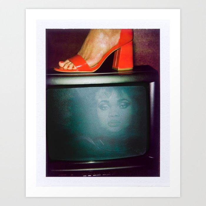 Women on TV Art Print