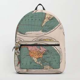 Vintage Map of The World (1921) Backpack