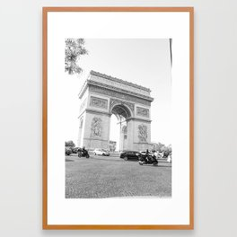 Arc De Triomphe Perspective Framed Art Print