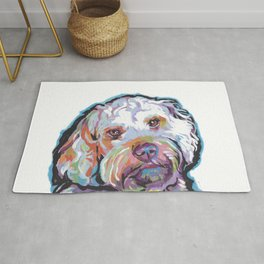 COCKAPOO Fun Dog Portrait bright colorful Pop Art Painting by LEA Rug