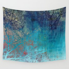 On the verge of Blue Wall Tapestry
