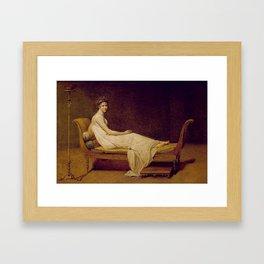 Madame Récamier Jacques Louis David Framed Art Print