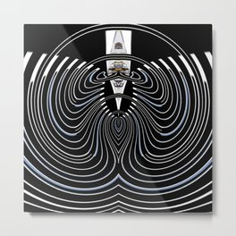 The First Place Winning Beard Abstract Metal Print